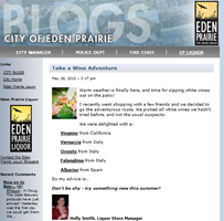Eden Prairie Liquor Blog