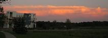 Receding thunderhead at sunset; my Northfield neighborhood, 7/29/10