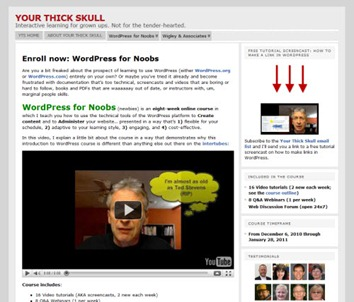 WordPress for Noobs - screenshot