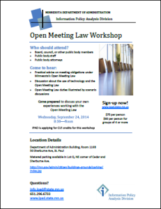 IPAD Open Meeting Law workshop