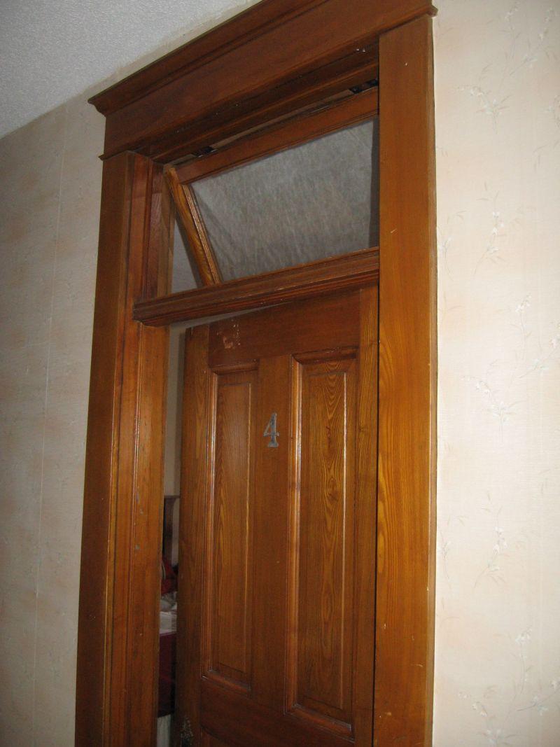 Second Floor Hallway Stairway Transoms Wood Floors